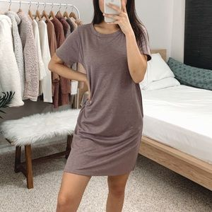 LAST 2 🆕 Plum French Terry T-shirt Dress